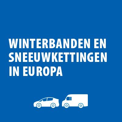 Winterbanden in Europa