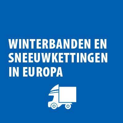 Winterbanden en sneeuwkettingen in Europa